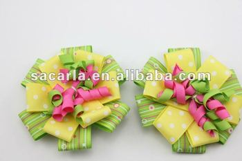 4.5''decorative korker hair bows