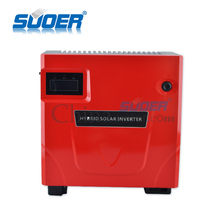 Suoer PV power inverter dc 12v ac 220v hybrid solar power system ups inverter with built-in charge controller