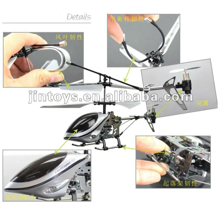3 ch gravity sensor rc helicopter with light and gyro