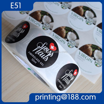 Customized Labels For Food Container, Adhesive Label, Waterproof Roll Vinyl Sticker