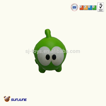 Customized OEM Cute animal design PU stress frog toy