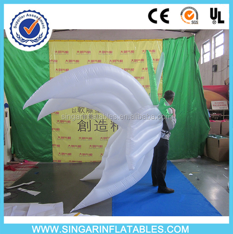 inflatable belly dance angel wings with led light