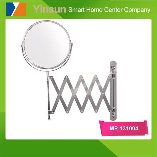 Fashionable popular Hotel Bathroom Wall-mounted magnifying mirror with folding