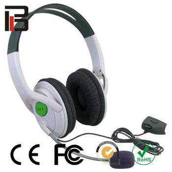 stereo headset with mic for xbox360 earphone for xbox360 for xbox360 accessories