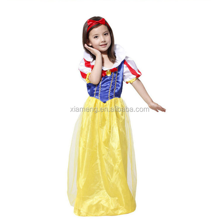 2016 high quality wholesale fairy dress halloween cosplay snow white costume