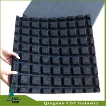 Easy installation and maintenance recycled tire flooring