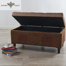 Home furniture upholstered long bench/multi-functional shoe storage bench