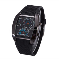 Vogue Mens Rubber Speedometer LED Digital Wrist Watch