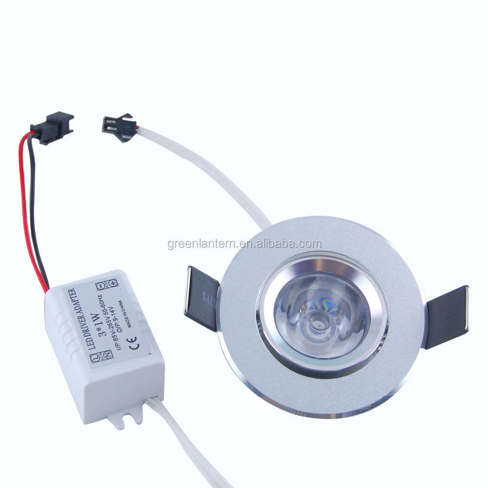wholesale 3 1w rgb led recessed ceiling light spotlight buy led