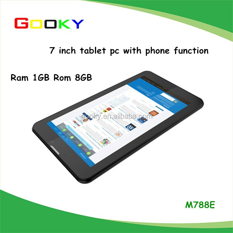 "7"" Phablet with Case Android 4.4 1GB RAM 8GB ROM Tablet Built in 3g GPS Bluetooth Dual Sim Card Dual Cam Flashlight Tablet PC"