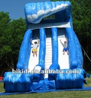 New design inflatable blue ocean wave giant inflatable water slide