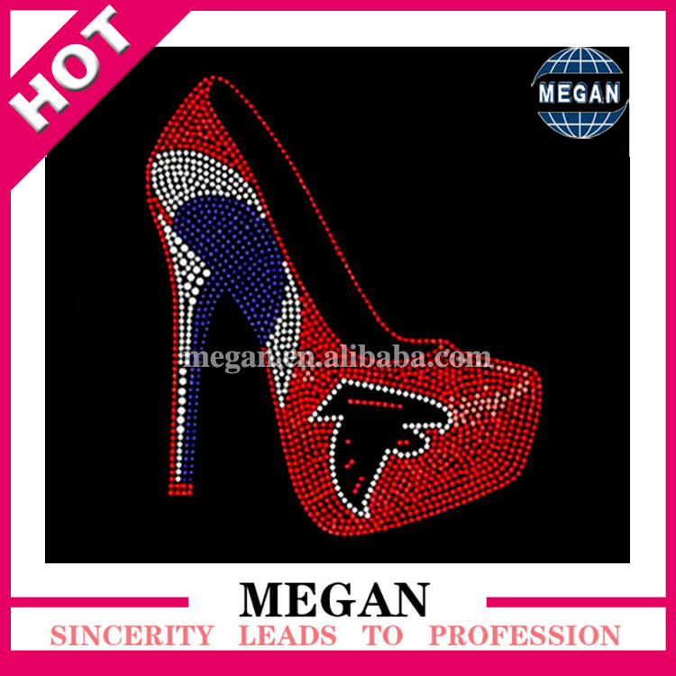 custom high heel shoe design Atlanta falcon rhinestone iron on transfers