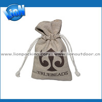 Jewelry small flax linen drawstring Pouch bag