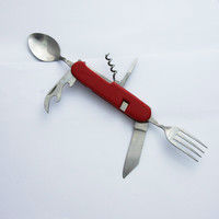 Hot Sale Plastic Handle And Multipurpose Folding Camping Cutlery Knife Set