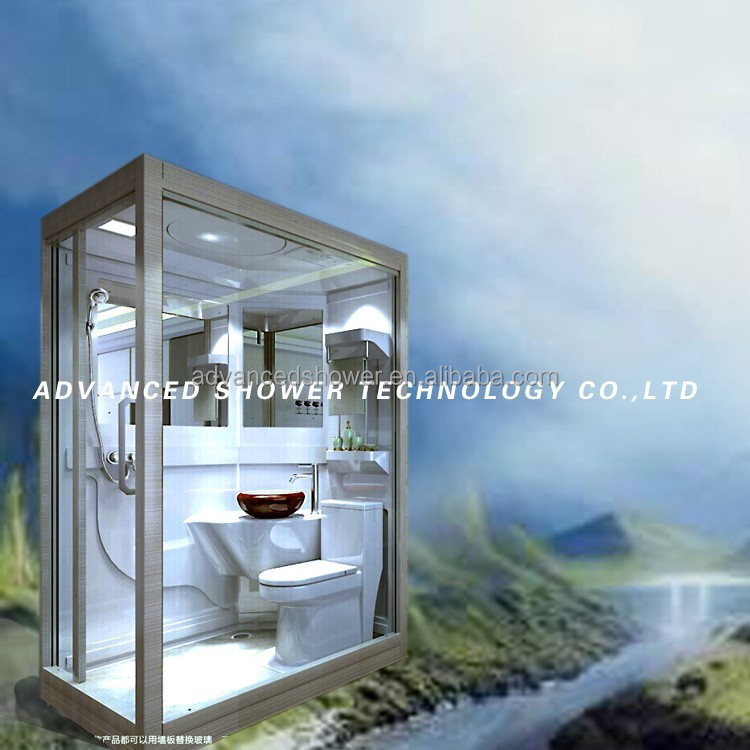 tourist tent container house used Prefabricated bathroom wc toilet unit shower pod