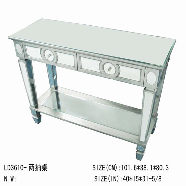 acrylic/lucite console table