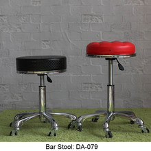 2015 New Designs Height Adjustable leather metal chair bar stool