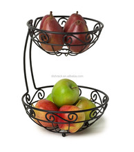 2 tier wire fruit basket