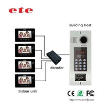 999 rooms building management video intercom system multi apartment video door bell system for apartment