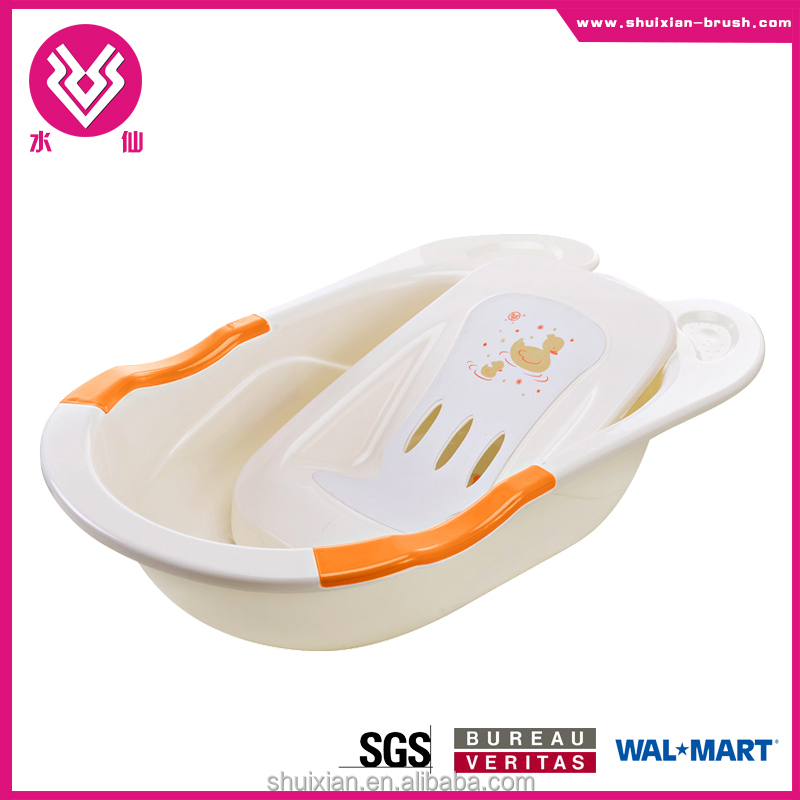 2015 new design wholesale large plastic baby bath tub without boardBN7303
