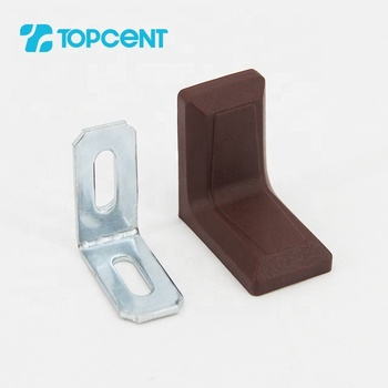 Topcent furniture cabinet decorative plastic right angle corner connecting brackets