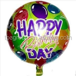 New design happy birthday foil balloon for sale
