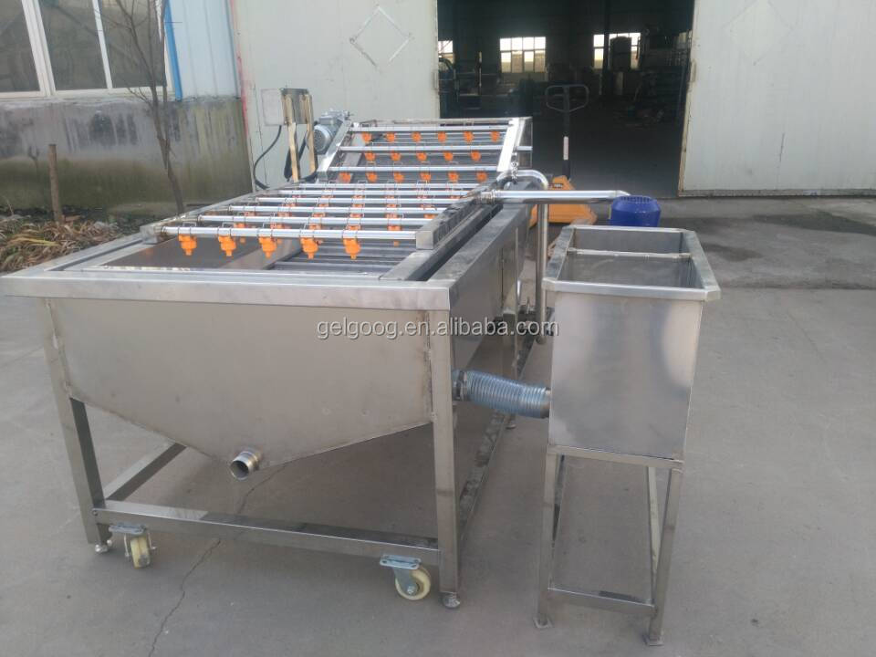 Factory Supply Fruit And Vegetable Processing Peach Dates Leaf Vegetable Washer Radish Cleaner Onion Cleaning Machine