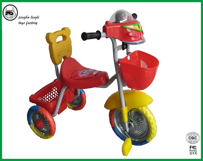 LL311 Pinghu Lingli baby ride on car toys,baby pedal plastic tricycle, 3 wheel children tricycle with good quality