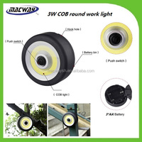 China Supplier 3AAA Battery Operated Round 3W COB LED Magnet Working Light