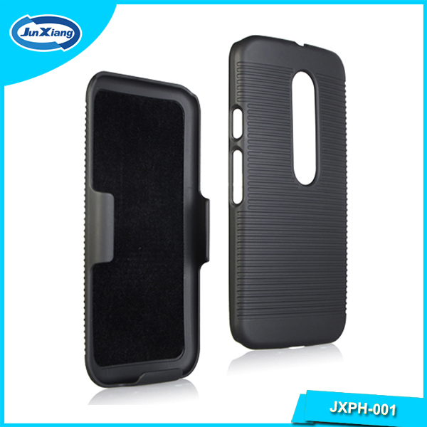 Custom mobile phone shell holster case for motorola G3