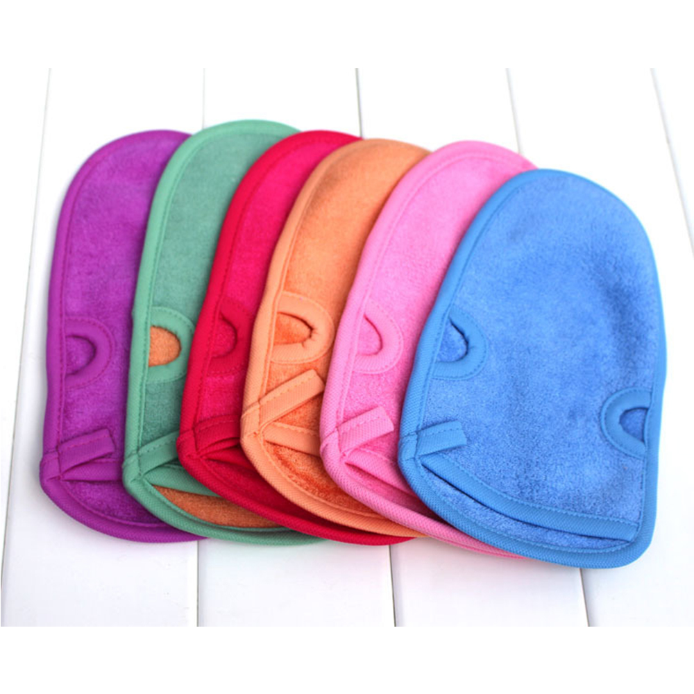 OEM High Quality Professional Exfoliating Scrub Cleaning Natural Plant Fiber MassageTowel Mitt Bathing Glove