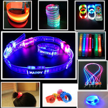 Factory Personalized LED Bracelets Motion Activated Flashing Wristbands for party or concert