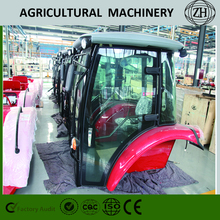 Customed 4x4 4WD 70 HP Wheel Farming Tractors With Cab