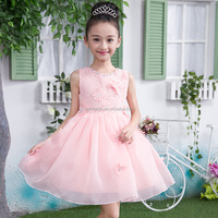 Girls dress pink lace and tutu petti dress Baby fashion dress with petal