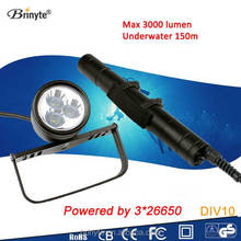 Best selling products Brinyte underwater powerful canister dive light DIV10