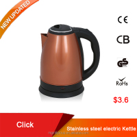 Lowest price 1.5L stainless steel turkish coffee and tea electric kettle