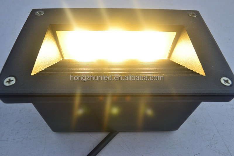 Housing aluminum 3 watt dc step wall mount led light