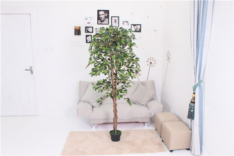 Wholesale attractive style make eyes comfortable artificial ficus banyan plant and flower