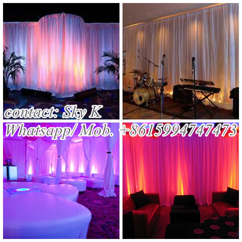 hall decoration items, wedding pipe and drape