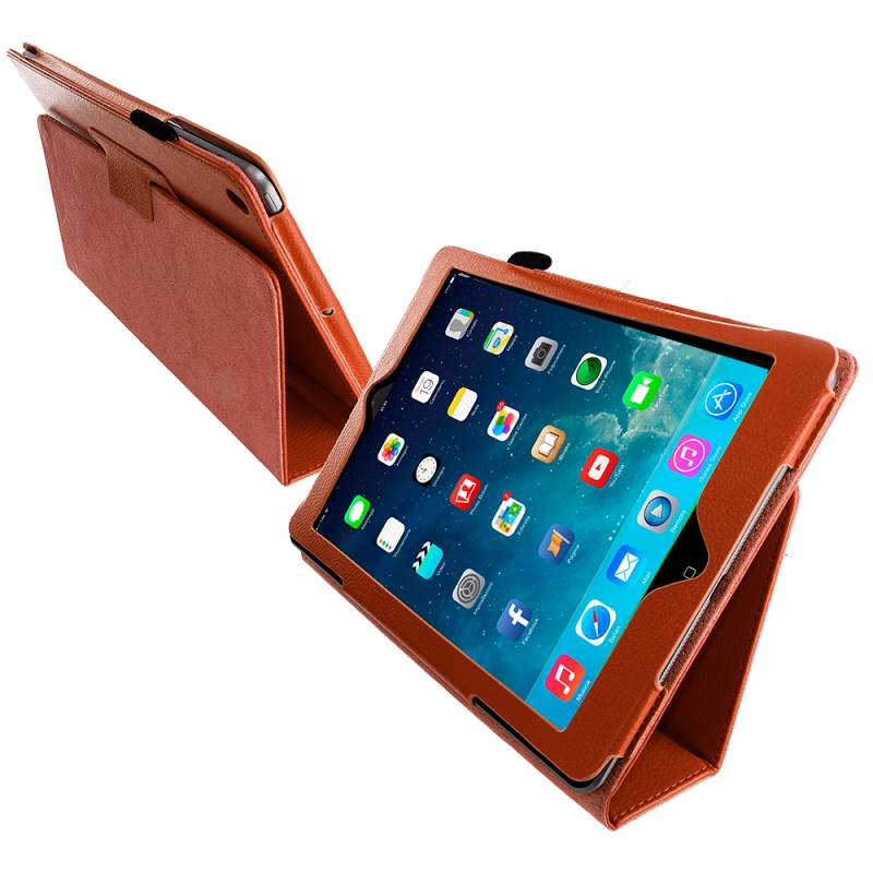 For Apple iPad mini 1 2 Retro PU Leather Case Retina Smart Stand Magnetic Sleep Wake UP Pouch Cover For ipad mini1 mini2