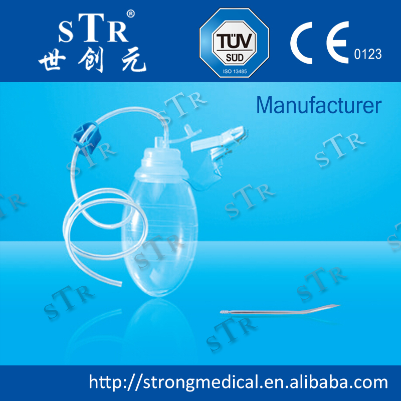 medical silicone negative pressure wound therapy closed suction system tube