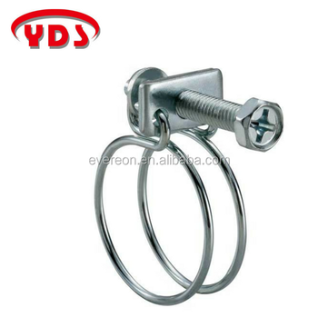 High Press Double Wire Corrugated Pipe Hose Clamp