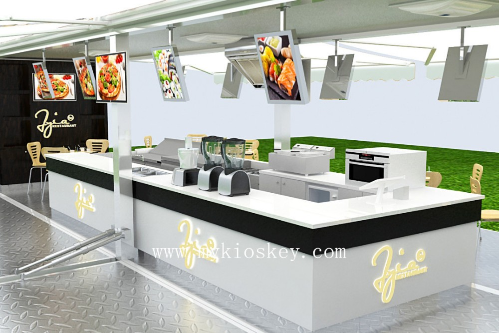 Popular food container kiosk for sale