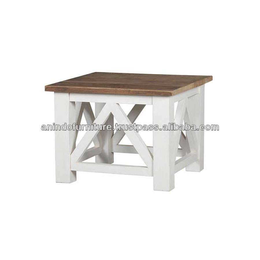 EV Series Square End Table with Cross Legs