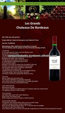 FRENCH WINES Les Grand Chateau De Bordeaux