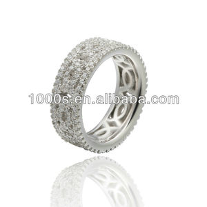 Fashion jewelry high quality gemstone 925 sterling silver ring