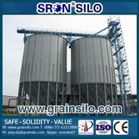 Hot Galvanized Steel Grain Storage Silo For Sale, Small Grain Feed Bin Price Used For Poultry Farm