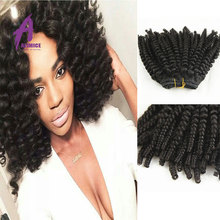 Wholesale afro kinky human hair for braiding hair weave quality indian cheap remy human hair
