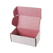 <strong>OEM</strong> Cute White and Pink Tuck Top Corrugated Mailing Gift Boxes for Cookies/Cosmetics