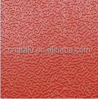 Roll type cold rolling embossed acp roof gutter roller shutter pe/pvdf orange peel coated stucco embossed aluminum coil